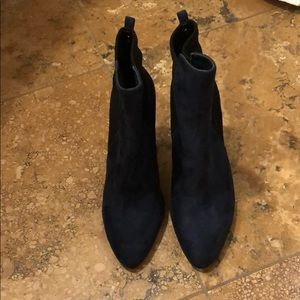 Blue Faux Suede Ivanka Trump Booties Size 7.5